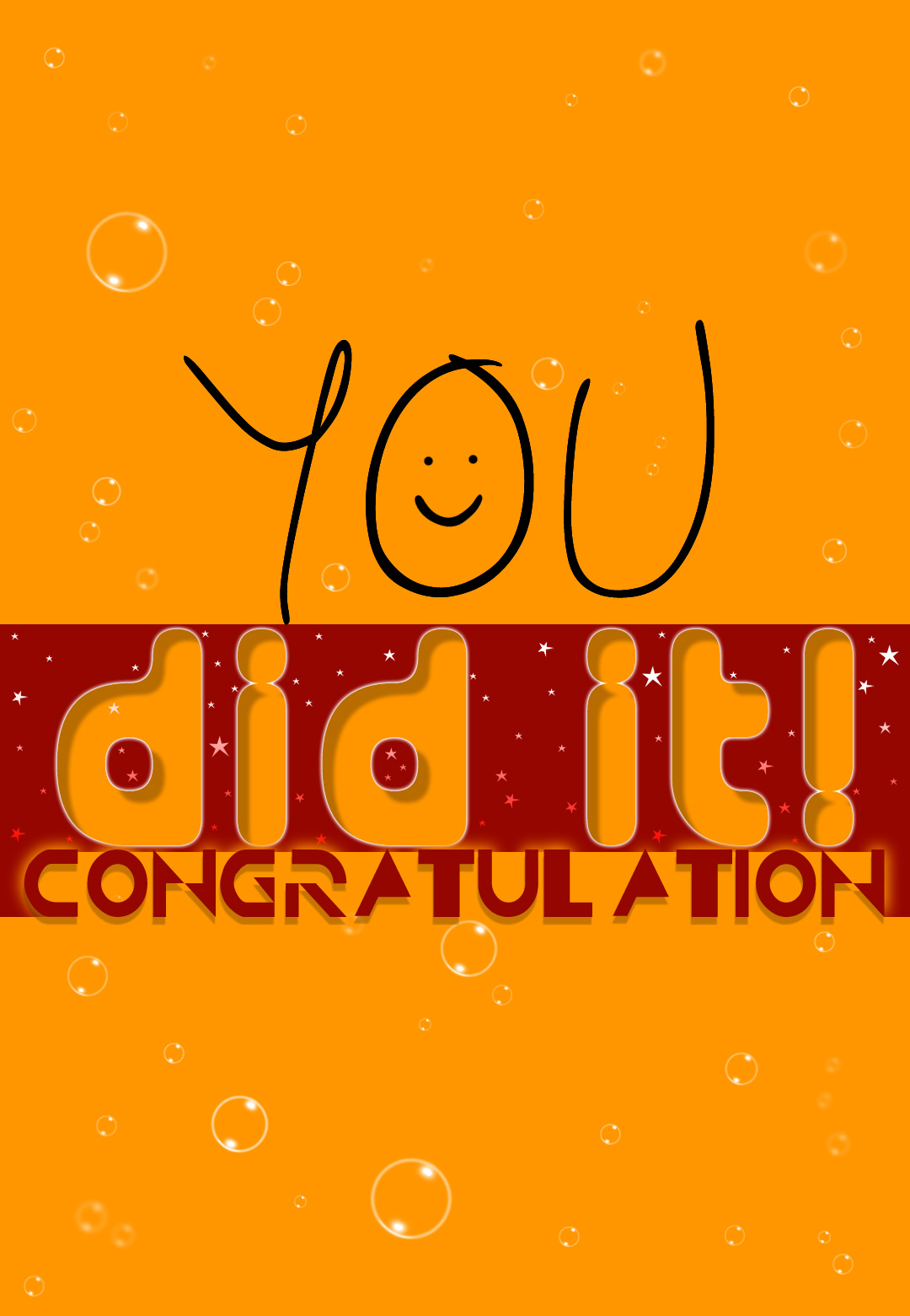 You Did ItFree Printable Congratulation Cards Printable – Free Congratulation Cards