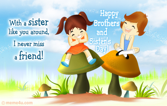 cards for sisters, cards for sister, cute ecard for sister